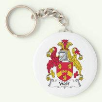 Wolf Family Crest Keychain