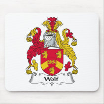 Wolf Family Crest Mousepad