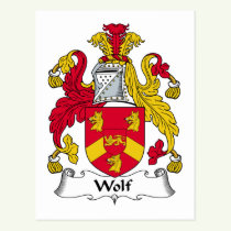 Wolf Family Crest Postcard