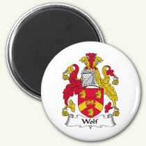 Wolf Family Crest Magnet