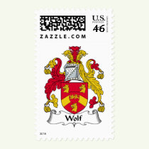 Wolf Family Crest Stamps