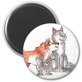 Wolf Family Magnet