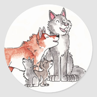 Wolf Family Stickers