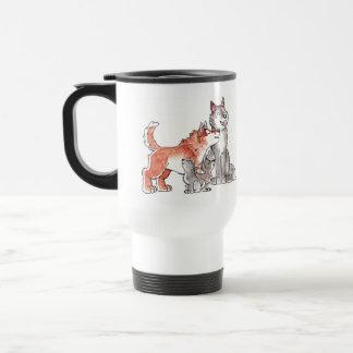 Wolf Family Travel Mug