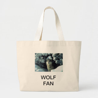 wolf fan large tote bag