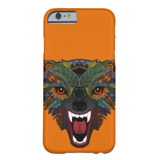 wolf fight flight orange barely there iPhone 6 case