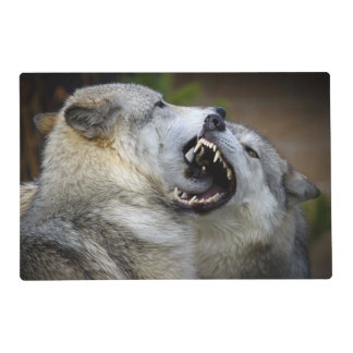 Wolf Fight Placemat