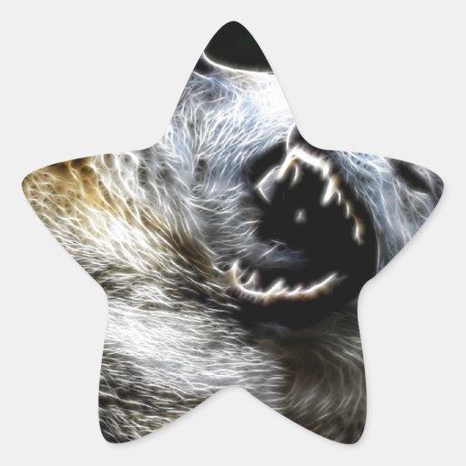 Wolf Fight Star Sticker