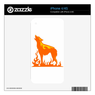 Wolf Flames Decals For The iPhone 4S