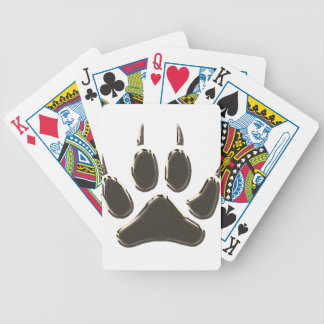 wolf footprint bicycle playing cards