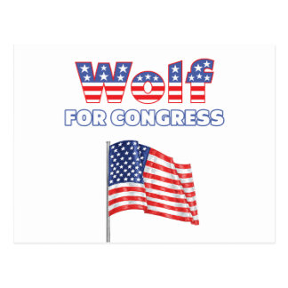 Wolf for Congress Patriotic American Flag Postcard