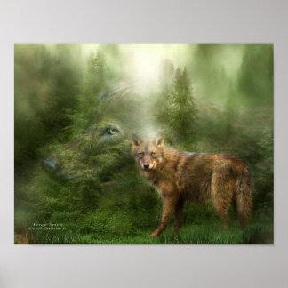 Wolf - Forest Spirit Art Poster/Print Poster
