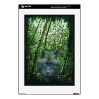 Wolf & Forest Wildlife Sony Playstation 3 Skin Decals For PS3