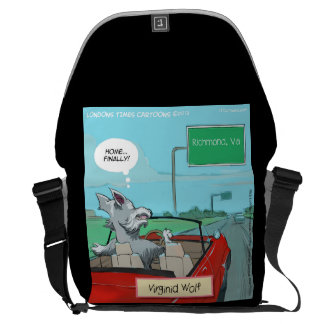 Wolf From Virginia Funny Messenger Bag