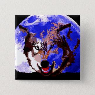 Wolf & Full Moon Button
