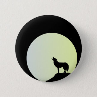wolf full moon button