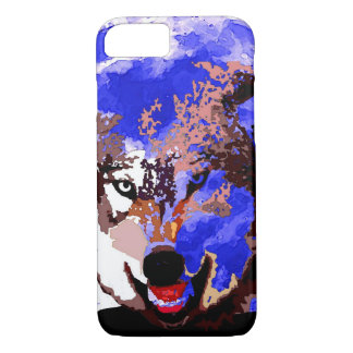 Wolf & Full Moon iPhone 7 Case