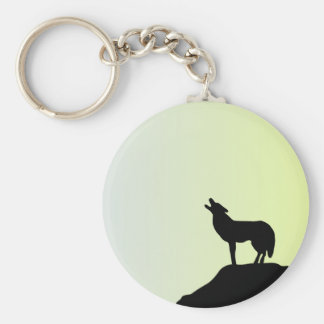 wolf full moon keychains