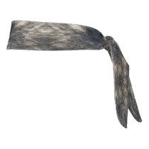 Wolf fur tie headband