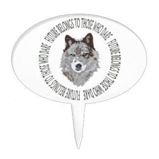 wolf future dare cake topper