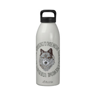 wolf future who dare water bottles