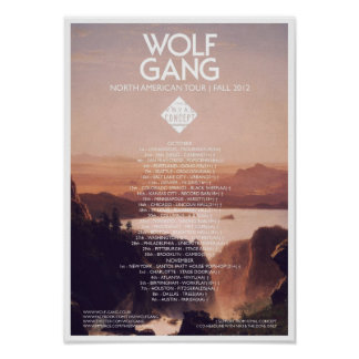 Wolf Gang American Tour Poster