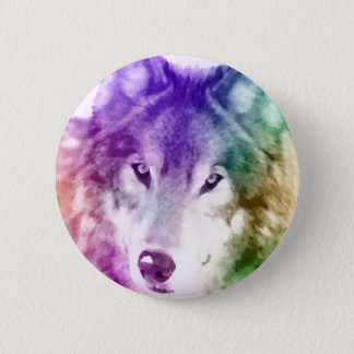 Wolf Gaze Art Button
