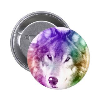 Wolf Gaze Art Button