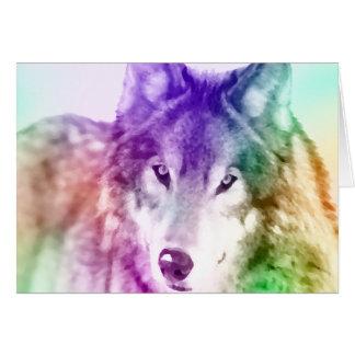 Wolf Gaze Art Greeting Card