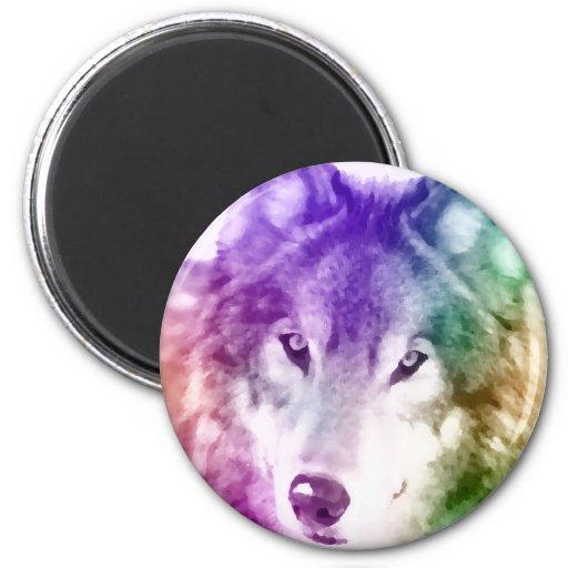 Wolf Gaze Art Refrigerator Magnets