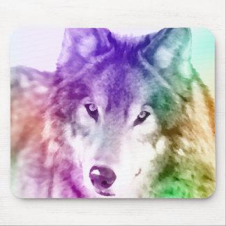 Wolf Gaze Art Mouse Pad