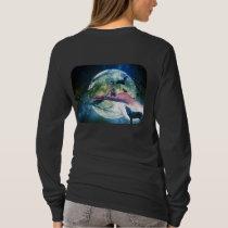 Wolf Girl Raven Bat Moon T-Shirt