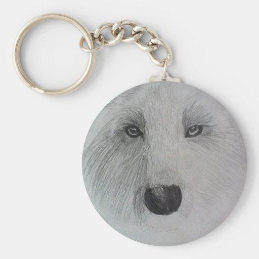 Wolf glare key chains