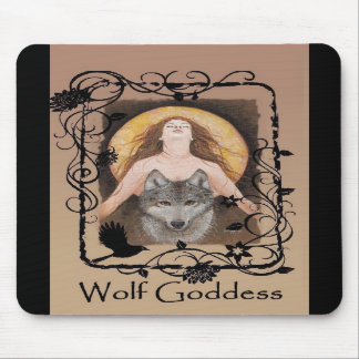 Wolf Goddess Mousepad by Lori Karels