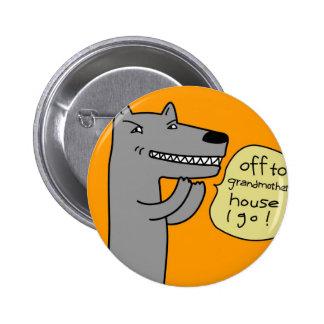 Wolf (golden) pinback buttons