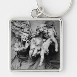 Wolf Gottesacker 1 Silver-Colored Square Keychain