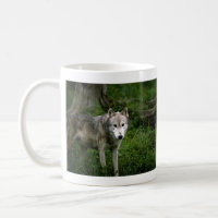 wolf grey mug mug
