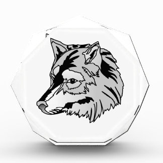 Wolf Head Acrylic Award