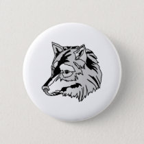 Wolf Head Button