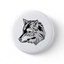 Wolf Head Button