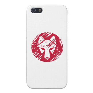 Wolf Head Circle Retro Cover For iPhone SE/5/5s