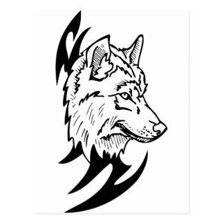Wolf Head Design Post Cards