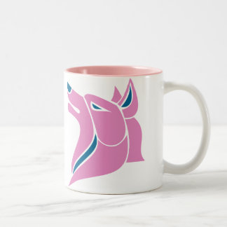 Wolf Head in Pink and Blue Mug