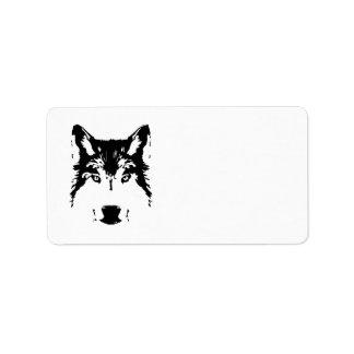 Wolf head label