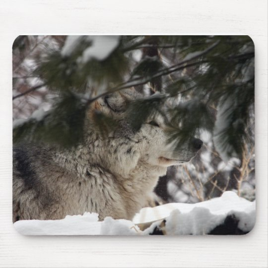 Wolf Head Mouse Pad