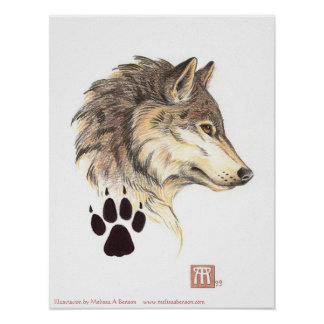 Wolf Head Profile print