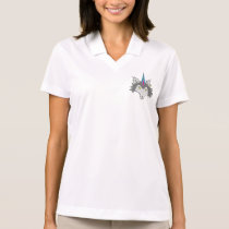 Wolf Head with Punk Mohawk Polo Shirt