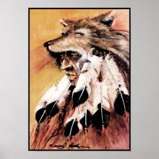 Wolf Headdress Canvas Print