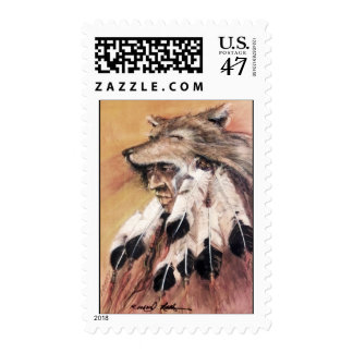 Wolf Headdress postage stamp