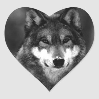 Wolf Heart Sticker